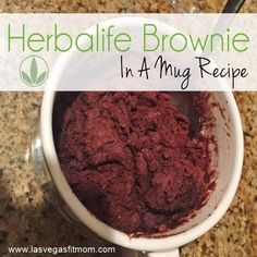 Herbalife Brownies | Herbalife Brownie In A Mug Recipe