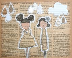 White RainOriginal Mixed Media by Mayi Carles
