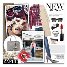"""4. www.zaful.com/?lkid=8081"" by melissa-de-souza ❤ liked on Polyvore featuring L.K.Bennett, Bally, Ray-Ban, MAC Cosmetics, Komono and Lancôme"