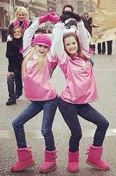 Chloe and Brooke with Christi and Kelly in the background :)