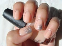 Orly Instant Artist Silver Glitter over OPI Coney Island Cotton Candy