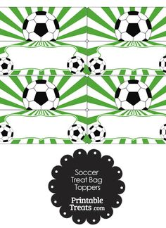 66d8e0e5d14 Here are some fun purple sunburst soccer treat bag toppers you can use for  soccer birthday parties or post-game soccer team snacks.