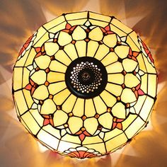 16Inch European Retro Style Tiffany Baroque Stained Glass Flush Mount Ceiling Light Dining Room Light -- Find out more about the great product at the image link.