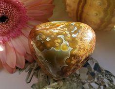 Ocean Jasper Exceptional Orbs Orbicular by PillarOfLightShoppe Crystal Growth, Love Energy, Love And Respect, Heart Chakra, Plexus Products, Jasper, Christmas Bulbs, Ocean, Holiday Decor