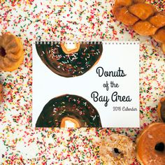 Donuts of the Bay Area 2016 Calendar An by DonutGalleria on Etsy