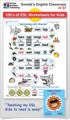 ESL Worksheets - Looking for practical worksheets for your ESL, EFL, or ELL elementary students?  Browse hundreds of downloadable pages!  Available as full textbooks or individual lesson packs.   #ESL #EFL #ELL