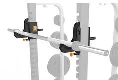 Fat Bar J-hooks Matrix gym equipment. Commercial Gym Equipment, Home Gym Equipment, No Equipment Workout, Gym Workouts, At Home Workouts, Workout Accessories, Diy Garage, At Home Gym, Hooks