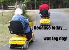 15 Leg Day Memes That Are Incredibly Funny Moped Scooter, Scooter Girl, Kick Scooter, Leg Day Memes, Mobility Aids, Mobility Scooters, Funny Old People, Rv Parks And Campgrounds, Scooter Custom