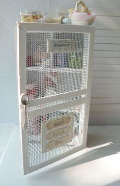 Miniature Shabby Chic Pantry- I have the perfect DIY project for myself with this inspiration.