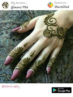 Mehndi Designs almost every female looking for who are interested in mehndi. Now you can see some fabulous and beautiful simple mehndi designs. Mehndi Designs For Beginners, Henna Designs Easy, Mehndi Designs For Fingers, Beautiful Henna Designs, Best Mehndi Designs, Henna Tattoo Designs, Mehandi Designs, Henna Tattoo Hand, Lion Tattoo