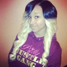 Zonnique Pullins, I'm not liking how harsh theombre is but the color is nice on her