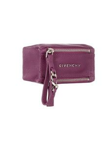 Givenchy Small Pandora coin pouch in magenta textured-leather | NET-A-PORTER