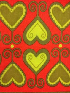 Amazing christmas vintage table runner, retro with scandinavian pattern, Made in Sweden in the 60s, swedish design. kr100.00, via Etsy.