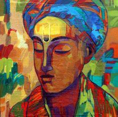 Avinash-Mokashe-Scholar #Acrylic on #Canvas #Paintings #Eikowa #Arts #IndianArts #Online EK-15-0021-AC-0010-18x18