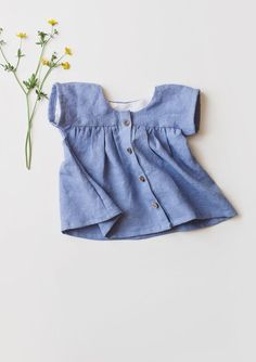 Sweet Handmade Linen Button Up Blouse | Gypsyandfree on Etsy