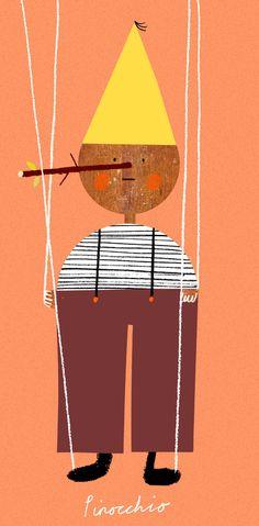 El Pinocchio del clásico infantil en la versión de Rob Hodgson.