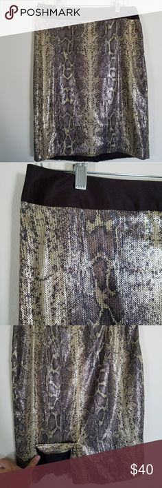 The Limited Sequin Snake Skin skirt Like new! No missing sequins, no snags or visible wear! Back Vent, satin band, invisible zipper on the side. The Limited Skirts Pencil
