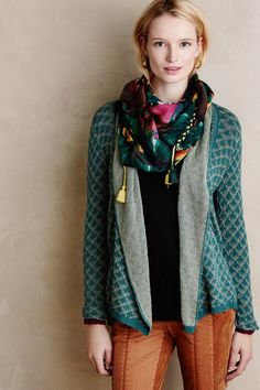 Anthropologie Knitted & Knotted Lacelet Cardigan #AnthroFave