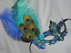 Custom Metal Mask in Shades of Turquoise by TheCraftyChemist07