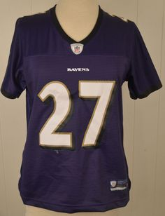 Women s Reebok Baltimore Ravens Jersey  27 Ray Rice NFL Medium 8-10 Sewn  Purple a2d29c6fa