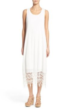 EVERLY Everly Crochet Maxi Dress available at #Nordstrom