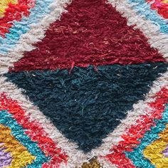 View our full range of Coloured Azilal Carpet right here, sourced from our partners from all over the world. French, Moroccan or New York inspiration. Carpets Online, Shag Rug, Bright, Interiors, Pattern, Red, Color, Inspiration, Shopping