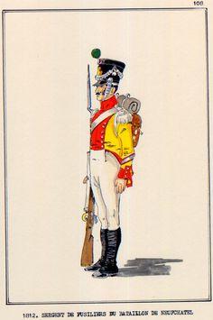 Swiss; Battalion du Neufchatel, Fusilier Sergeant, 1812
