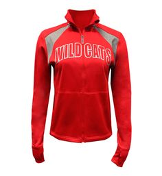 """Now it is the time to show your wildcats pride even in the cool winter! With the cool gray """"WILDCATS"""" in the front, this red zip-up should d..."""