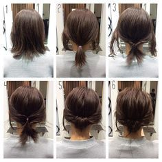 As a standard hair arrangement, many women take … – Beauty Tips & Tricks Als Standard Haarschmuck nehmen viele Frauen … Up Hairstyles, Pretty Hairstyles, Wedding Hairstyles, Short Hair Ponytail Hairstyles, Updo For Short Hair, Short Hair Updo Tutorial, Short Hair Tricks, Simple Buns For Medium Hair, Bob Hair Updo