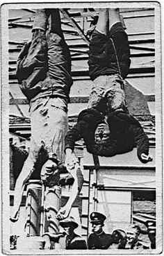 Benito Mussolini, He and his mistress, Clara Petacci