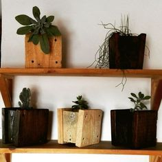 wooden flower pots, made of recycled pallet, woodcraft, reclaimed wood, recycle ... office decoration