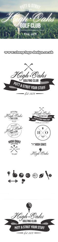 golf club logo design ideas www.cheap-logo-design.co.uk #golf #golfclublogo #logos