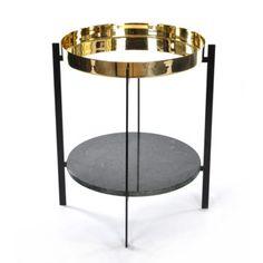 OX Denmarq - Köp Deck Sidobord, Grön Marmor/Mässing billigt online på Roomly.se