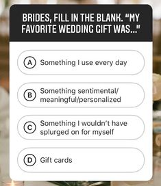 Ask a Real Bride: What Makes a Great Wedding Gift?