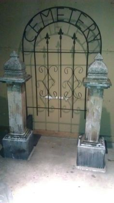 cemetery posts  entry gate