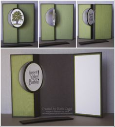Stampin' Up! Lovely As A Tree Flip Card by Katie Legge using Circle Card Thinlits Dies