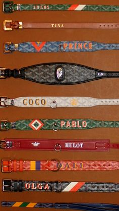 Let the Tide Pull Your Dreams Ashore: Gifts for the Pups - Goyard dog collars and leashes