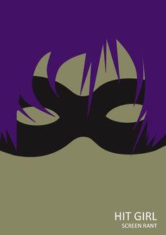 Hit Girl ~ Minimal Movie Poster by Anthony Ocasio ~ Superhero Series
