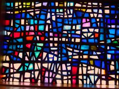 stained glass window in a little church somewhere in Iceland.