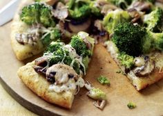 White Pizza with Broccoli and Mushrooms | Vegetarian Times