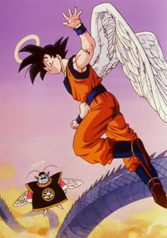 King Kai & Goku after Cell saga Mega Anime, Anime Echii, Anime Comics, Dragon Ball Gt, Goku Angel, Manga Dbz, Akira, Sasuke Vs, Naruto