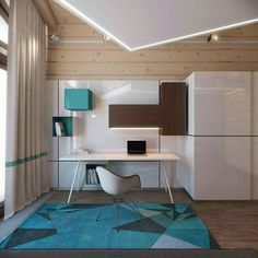 Modern Home Accents Office Spaces - 3 Creative Top Floor Rooms with Wood Accents. Interior Design Photos, Office Interior Design, Interior Design Inspiration, Design Ideas, Industrial Office Design, Modern Office Design, Office Designs, Industrial Lighting, Industrial Style
