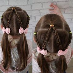 Super simple braided look today this took abou - Kids Hairstyles Short Hair Styles Easy, Curly Hair Styles, Natural Hair Styles, Baby Girl Hairstyles, Kids Braided Hairstyles, Short Hairstyles, Teenage Hairstyles, Short Haircuts, Simple Girls Hairstyles