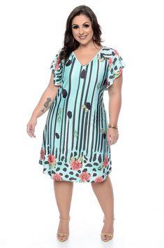 Vestido Plus Size Thicy Vestidos Plus Size, Plus Size Dresses, Plus Size Outfits, Plus Size Summer Fashion, Island Outfit, Different Dresses, Plus Size Beauty, Plus Size Model, Curvy Fashion