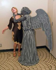 Doctor Who Weeping Angel attacking Jewel Staite From Firefly. Yet another rupture in the Whovian- Whedonesque time vortex