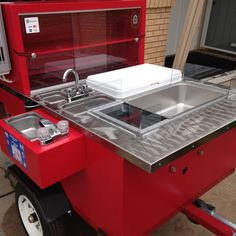 Dad Builds Sexy Hot Dog Cart For His Daughter Hot Dog Cart, Grills, Hot Dogs, Bbq, Dads, Daughter, Kitchen Appliances, Business, Building
