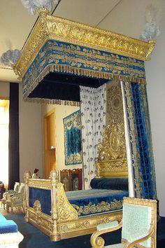 Bed of Charles X - The Louvre ,Paris , France