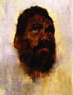 Aboriginal Head - Charlie Turner - Tom Roberts - The Athenaeum Australian Painters, Australian Artists, A4 Poster, Poster Prints, Art Nouveau, Melbourne Art, Victorian Life, Famous Art, Art Database