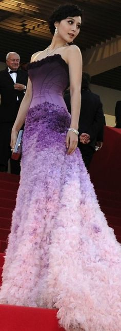 Fan Bing Bing in Atelier Versace - Red Carpet Purple Lilac, Shades Of Purple, Purple Dress, Dress Up, Dress Prom, Bridesmaid Dress, Prom Dresses, Wedding Dresses, Elegant Dresses