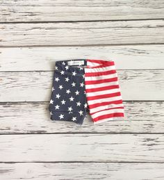 Baby Shorts American Babe Print  Stars and by LittleDreamerApparel